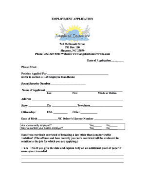 online application form macdonald toronto