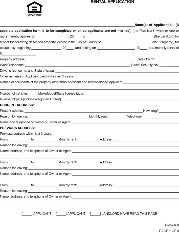 rental application form south africa