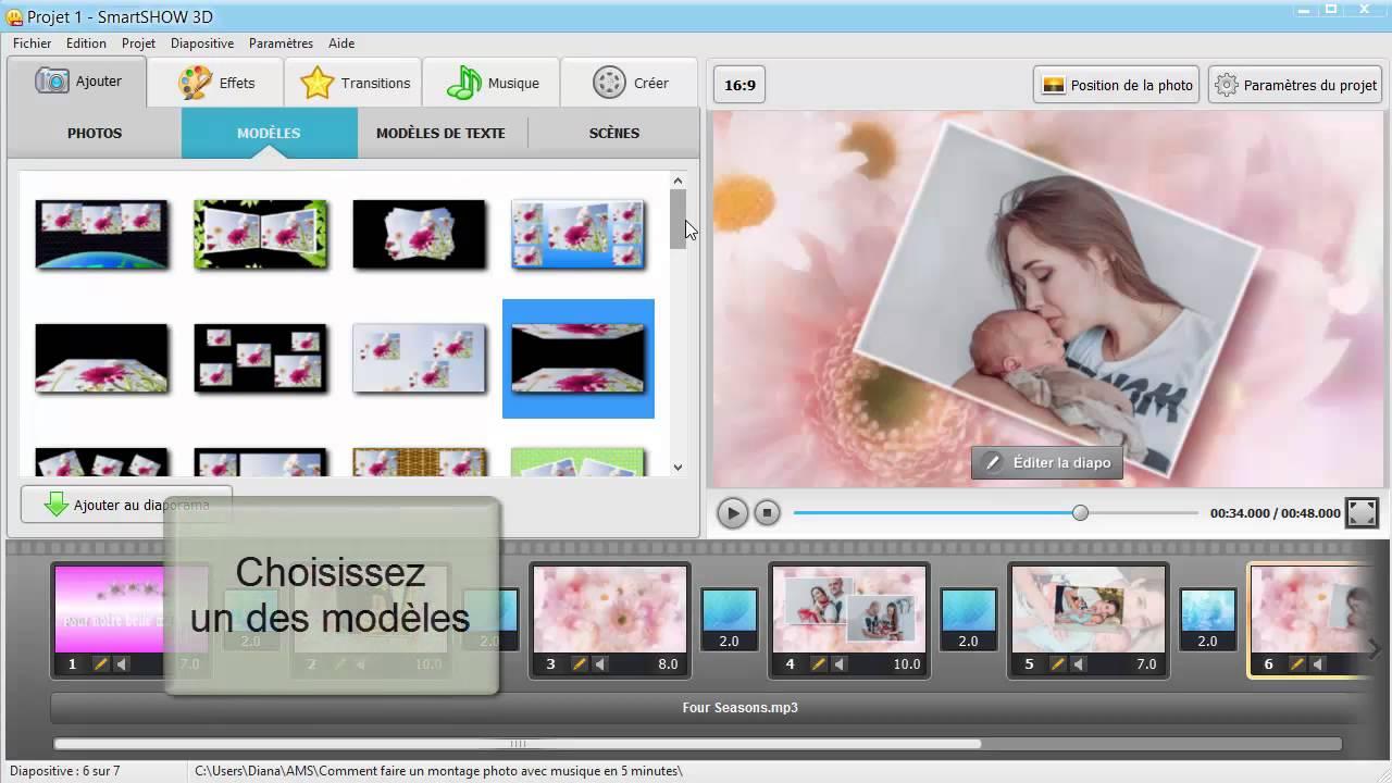 application cellulairr pour montage photo