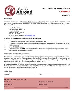 university of ottawa exchange program application form