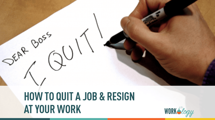 how to say i quit my job on an application