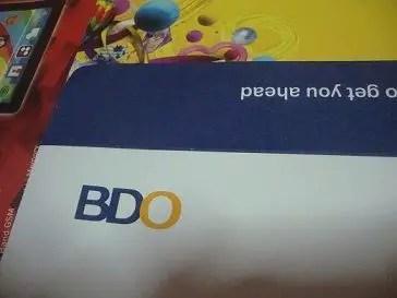 bdo savings account application requirements