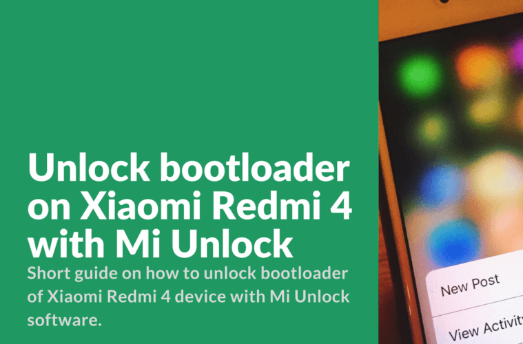 download widows application to unlock redmi 4