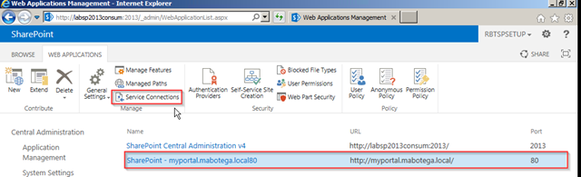 what is service application proxy sharepoint 2013