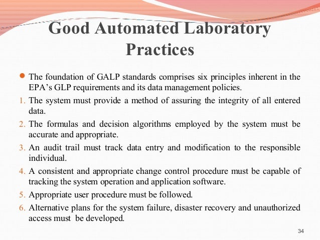 the application of glp principles to computerised systems
