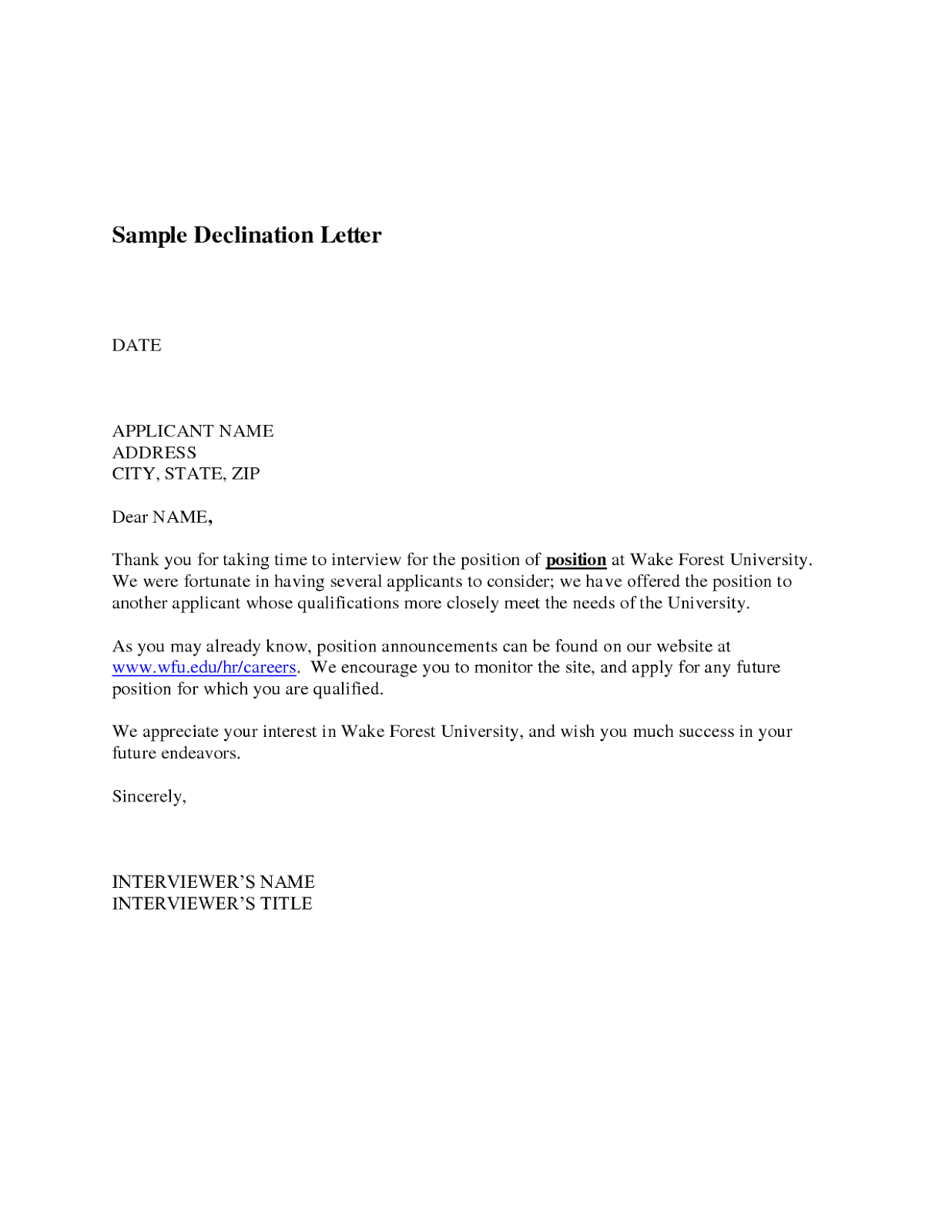 cover letter job application communication