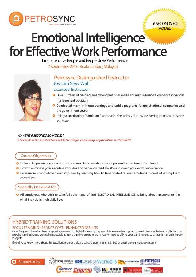 emotional intelligence application to work