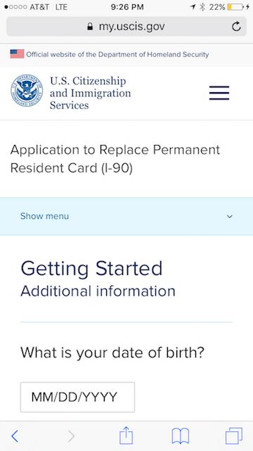 green card application form canada