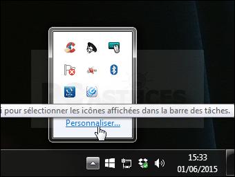 application barre des taches windows 10