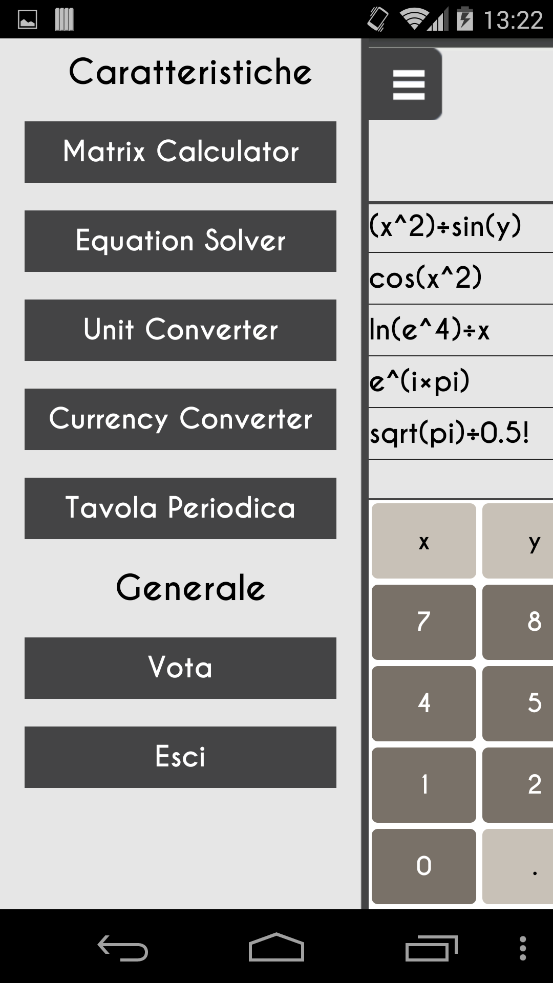 application calculatrice scientifique pour android