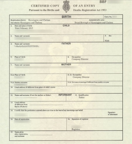 application for long form birth certificate replacement