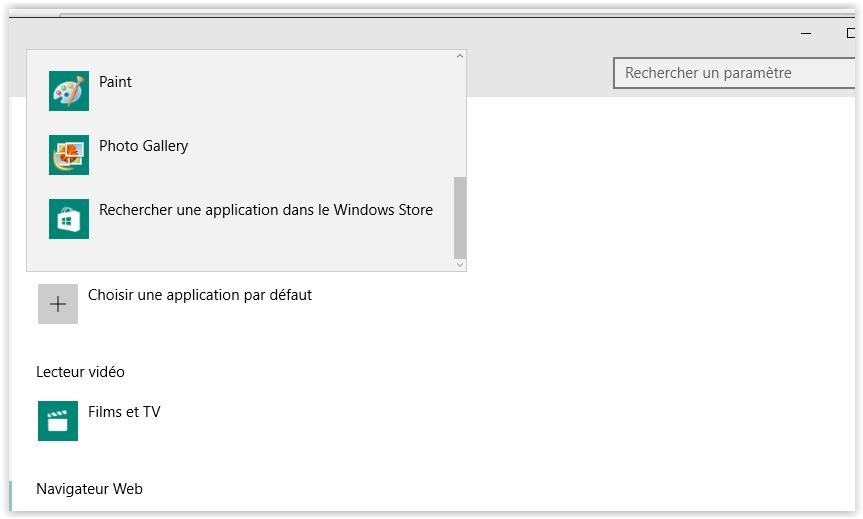application par defaut windows 7