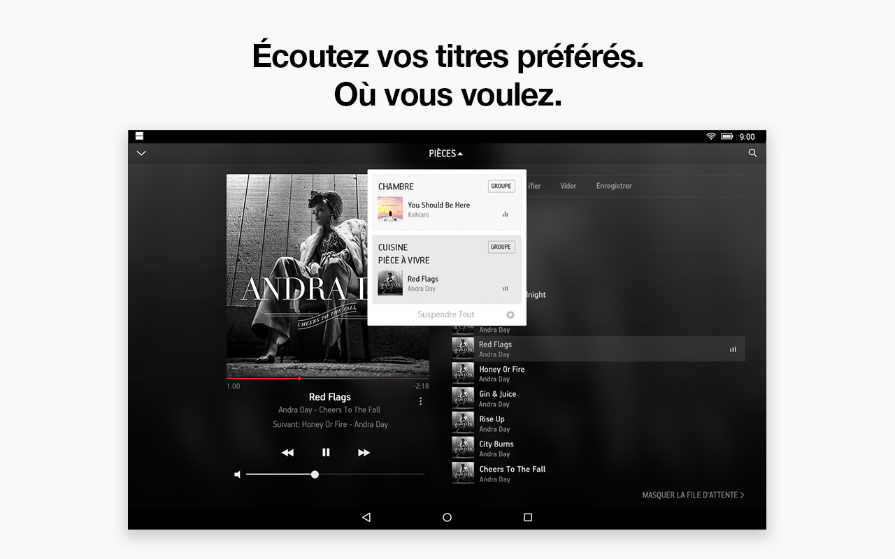 application sonos pour tablette android