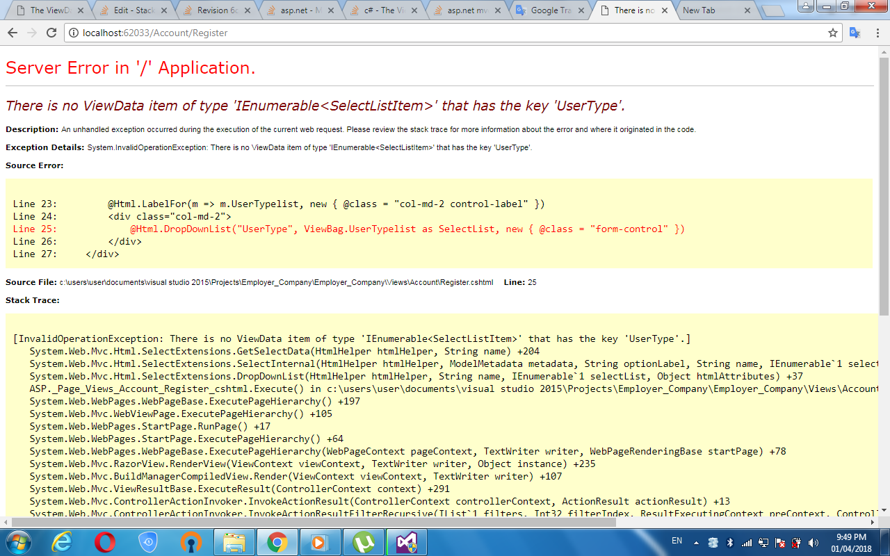 asp.net mvc application_error example