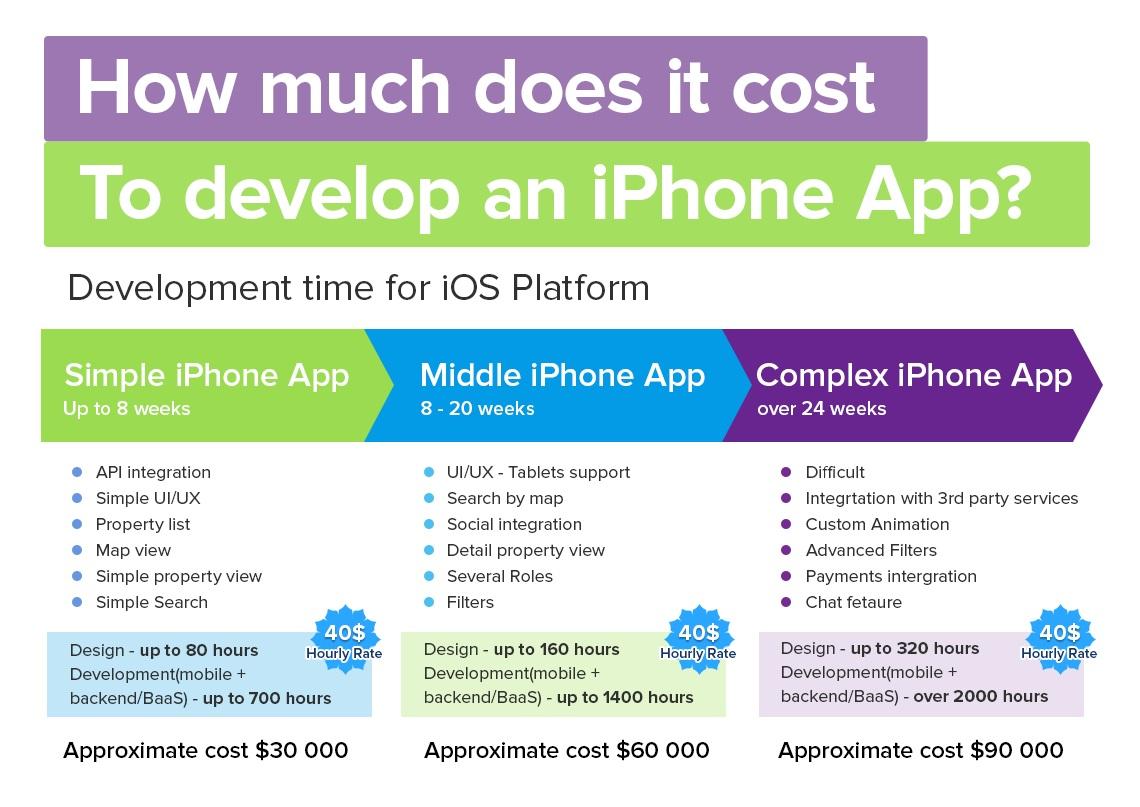 average cost of application development