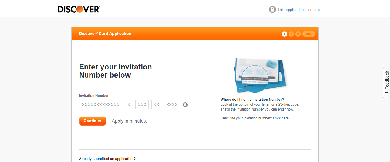 discover card application by mail
