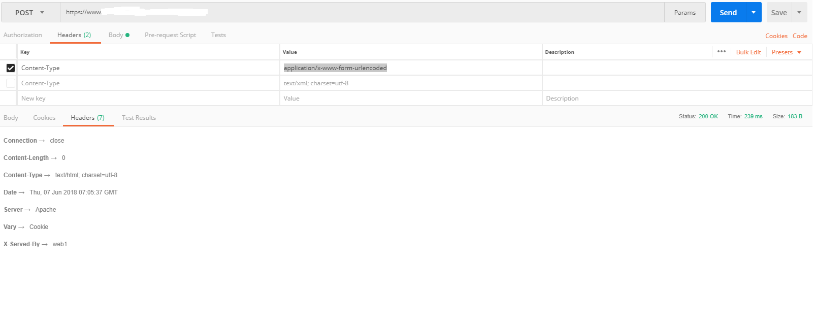 application x-www-form-urlencoded object c