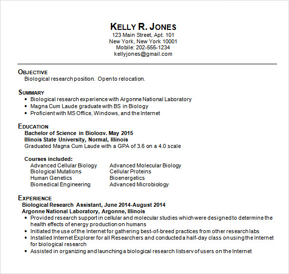 best high school resumes for college applications