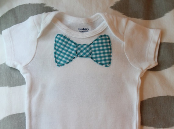 bow tie onesie applique pattern