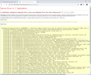 non-web exception exception origin name of application or object system