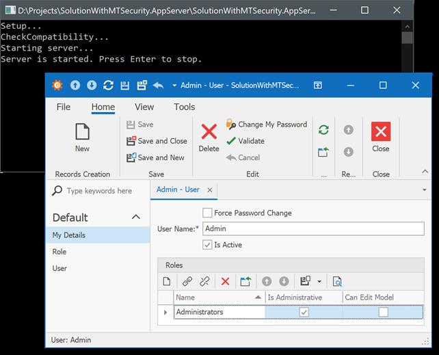 client server application without web services
