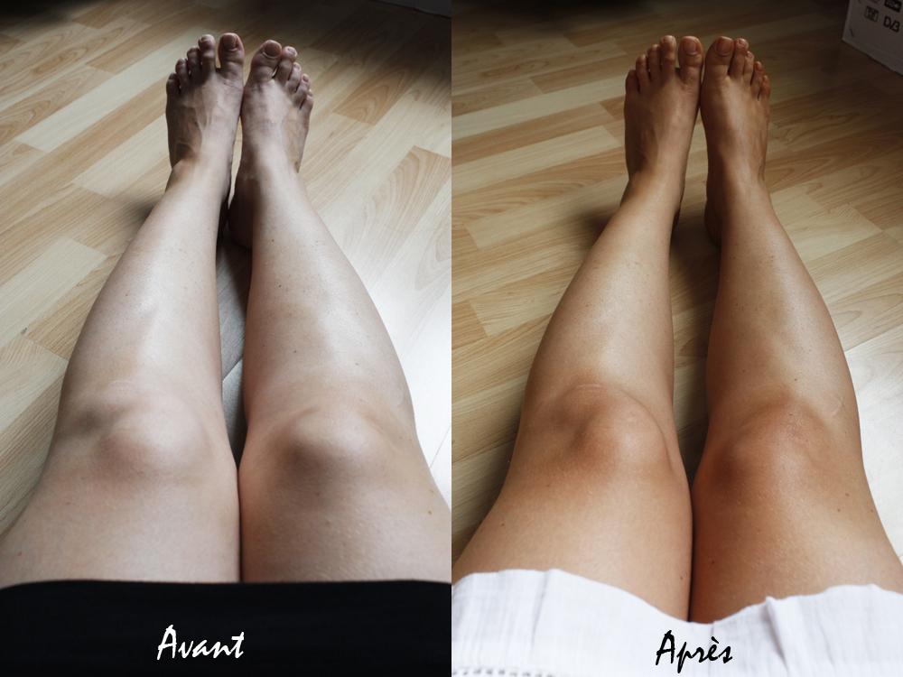 comment appliquer creme bronzante sur les jambes