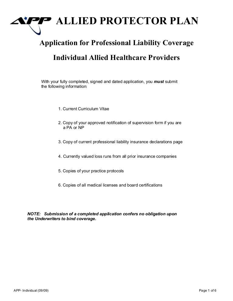 consultant professional liability insurance application