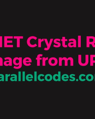 crystal report c windows application