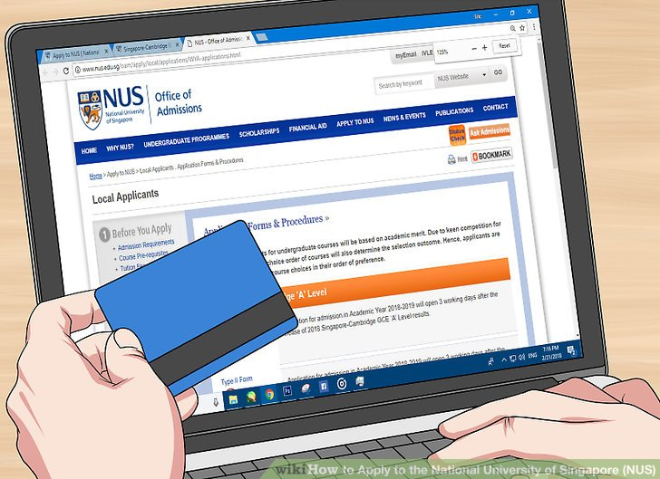 national university of singapore online application