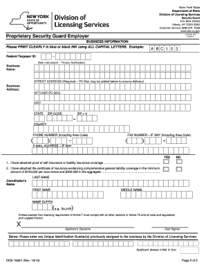 dos nys security guard application