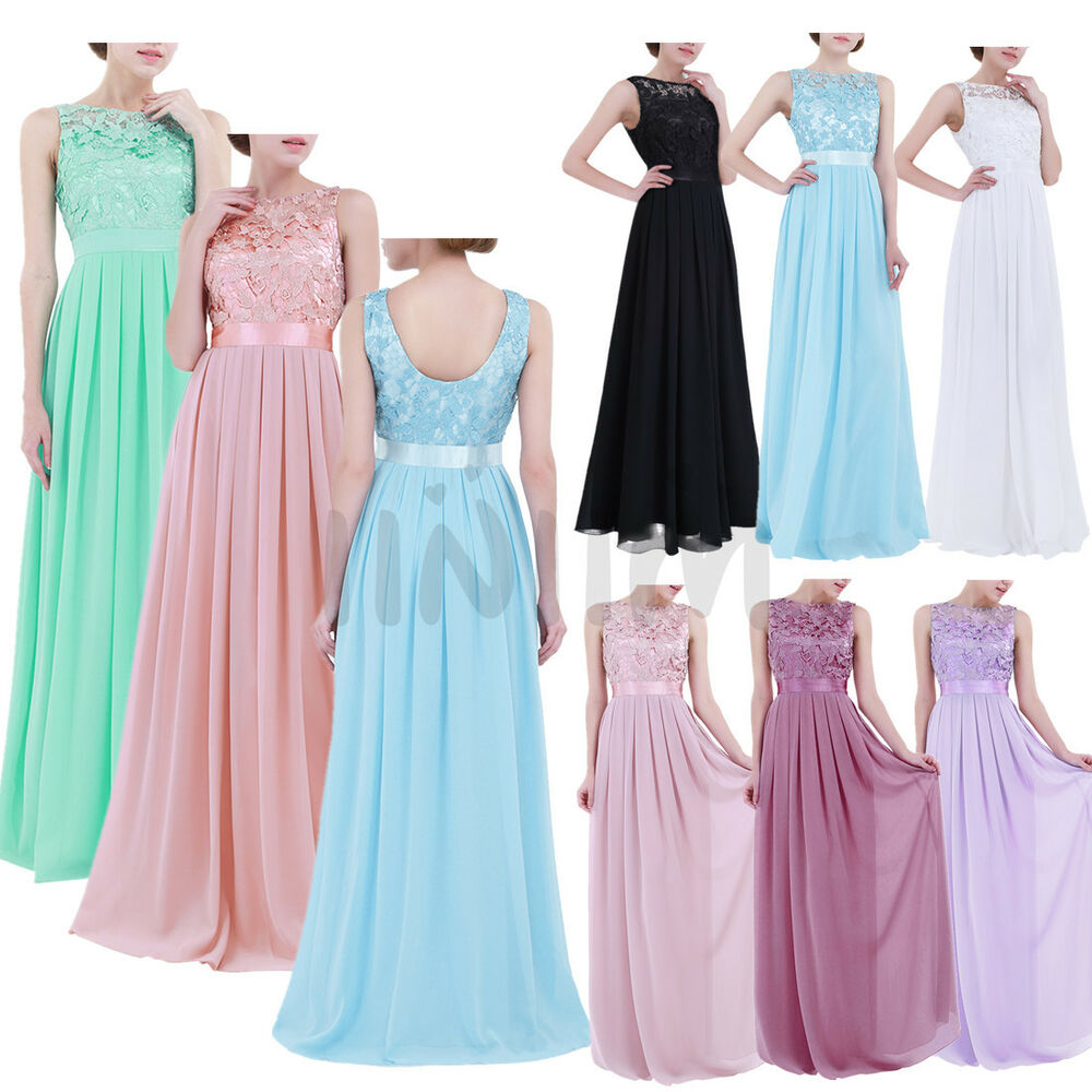 ebay formal applique chiffon prom ball gown evening
