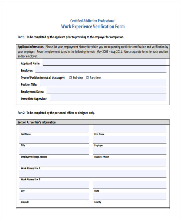 pmp credential application experience verification form