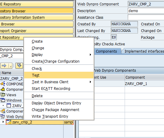 difference in component events and application events