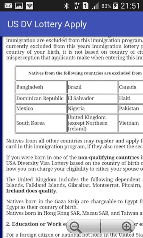 diversity visa dv lottery program application