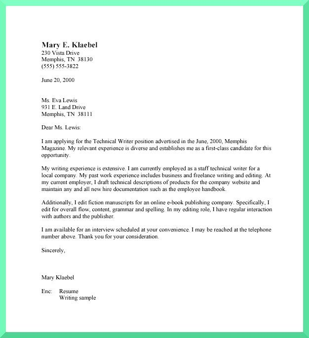 draft cover letter for scientific job application