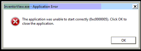 dreadnought application was unable to start correctly