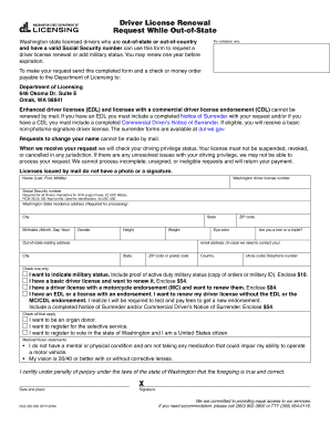 drivers license enhanced renewal application form