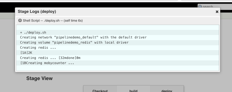 an error after an application is running
