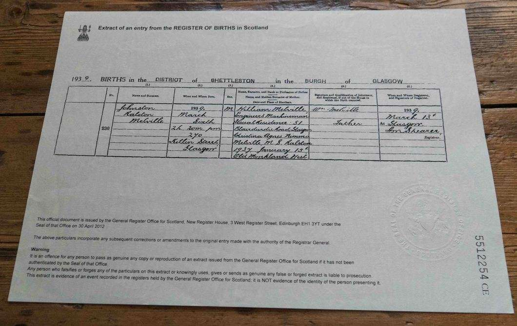 application for lost birth certificate ontario
