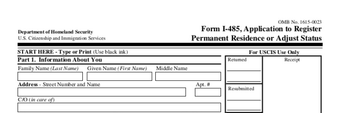 application for a spouges green card