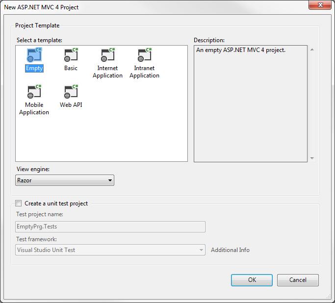 types of asp.net application framework