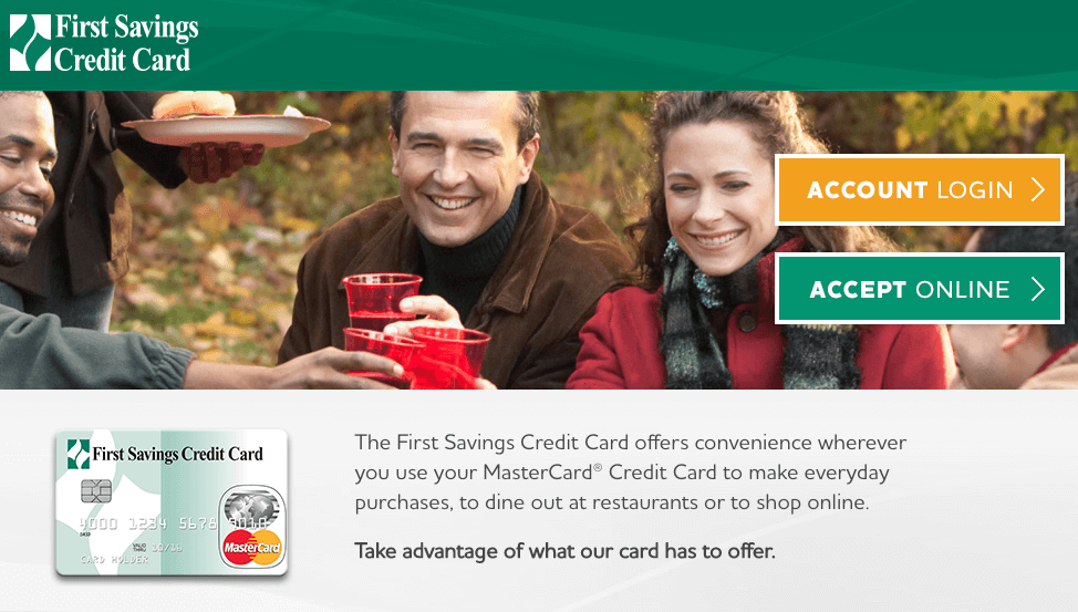 first savings credit card online application