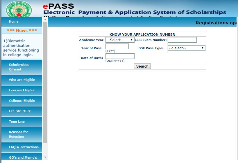 epass gov in application status