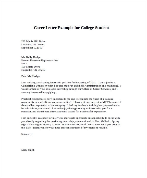 writing a letter of application for a course