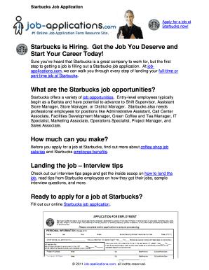starbucks canada application form pdf