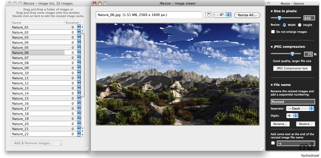 application to compress multiple jpeg images