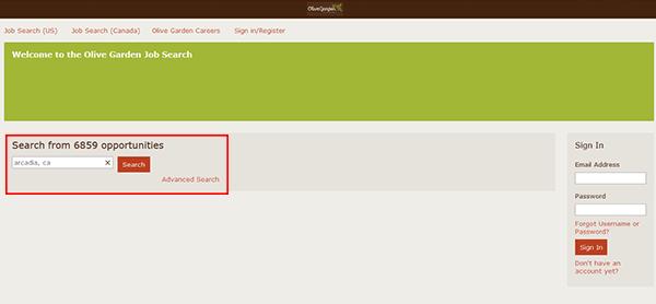 olive garden online application pdf
