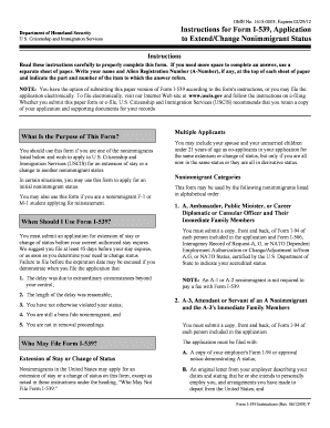 form i-539 application to extend change non-immigrant status