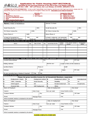 free section 8 housing application