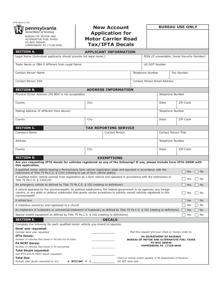 fuel tax disability application form